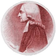 John Wesley, Anglican Minister And Christian Theologian Round Beach Towel
