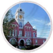Jones County Court House - Gray, Georgia Round Beach Towel