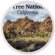 Joshua Tree National Park Box Canyon, California Round Beach Towel
