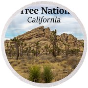 Joshua Tree National Park, California 03 Round Beach Towel