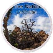Joshua Tree National Park, California Box Canyon 02 Round Beach Towel