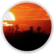 July 9-2018 Sunset Two  Round Beach Towel