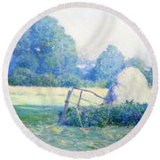 July Afternoon Round Beach Towel