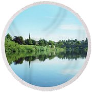 Junction Pool And View Of Tweed At Kelso Round Beach Towel