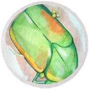 June Bug Round Beach Towel