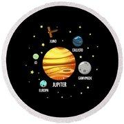 Jupiter Planet Universe Astronomy Round Beach Towel