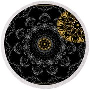 Kaleidoscope Moon For Children Gone Too Soon Number 2 - Faces And Flowers Round Beach Towel