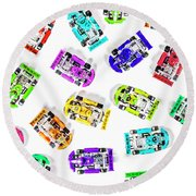 Karting Patterns Round Beach Towel