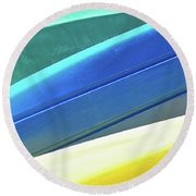 Kayak Angles And Colors Abstract II Round Beach Towel
