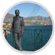 King Alfonso Xii Round Beach Towel
