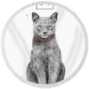King Of Everything Round Beach Towel
