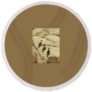 King Of The Castle Round Beach Towel