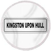 Kingston Upon Hull City Nameplate Round Beach Towel