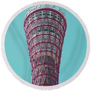 Kobe Port Tower Japan Round Beach Towel
