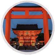 Kyoto Torii Gate Round Beach Towel