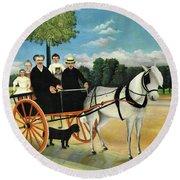 La Carriole Du Pere Junier - Digital Remastered Edition Round Beach Towel