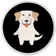 Labrador Retriever Gift Idea Round Beach Towel