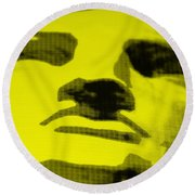 Lady Liberty In Yellow Round Beach Towel