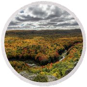 Lake Of The Clouds 10 Round Beach Towel