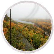 Lake Of The Clouds 9 Round Beach Towel