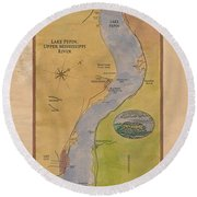 Lake Pepin Round Beach Towel