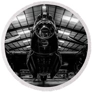 Lancaster Bomber Just Jane Bnw Round Beach Towel by Scott Lyons