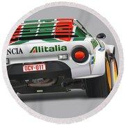 Lancia Stratos Rear Round Beach Towel