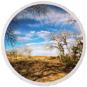 Land Of Enchantment Round Beach Towel
