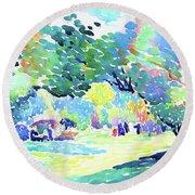 Landscape - Digital Remastered Edition Round Beach Towel
