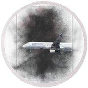 Latam Brasil Airbus A321-211 Painting Round Beach Towel