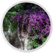 Lavender Pot Round Beach Towel