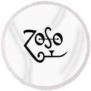 Led Zeppeling Z O S O - T-shirts Round Beach Towel