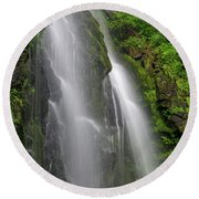 Lee Falls Close Up Round Beach Towel