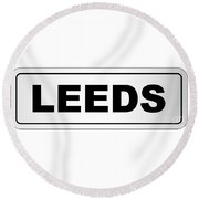 Leeds City Nameplate Round Beach Towel