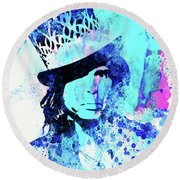 Legendary Aerosmith Watercolor Round Beach Towel