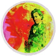 Legendary Bruce Watercolor Round Beach Towel