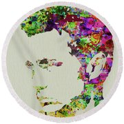 Legendary James Dean Watercolor Round Beach Towel