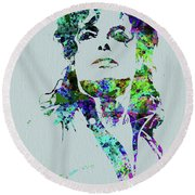 Legendary Michael Watercolor Round Beach Towel