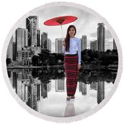 Let The City Be Your Stage Round Beach Towel by ISAW Company