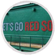 Let's Go Red Sox Round Beach Towel