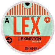 Lex Lexington Luggage Tag I Round Beach Towel