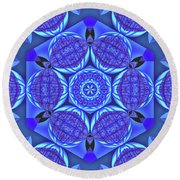 Life On A Blue Planet Round Beach Towel