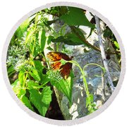 Light The Butterfly Round Beach Towel by Robert Knight