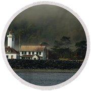 Lighthouse - Port Wilson Round Beach Towel