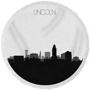 Lincoln Cityscape Art Round Beach Towel
