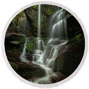 Linville Gorge - Waterfall Round Beach Towel