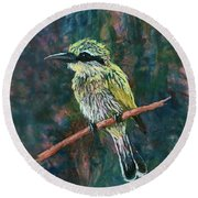 Little Bee Eater Round Beach Towel