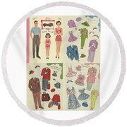 Little Golden Book Paper Doll Sees America Round Beach Towel