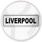 Liverpool City Nameplate Round Beach Towel