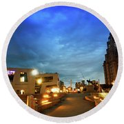 Liverpool's Historic Waterfront Round Beach Towel
